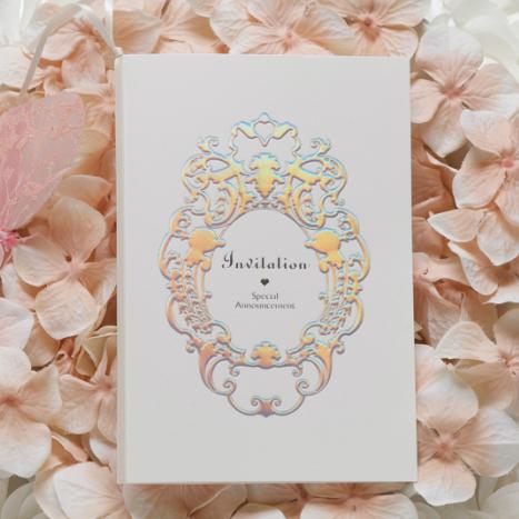 結婚式 招待状 簡単手作りキット プリンセス(ホワイト) 席次